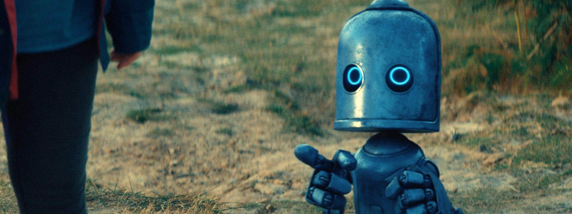 A blue robot